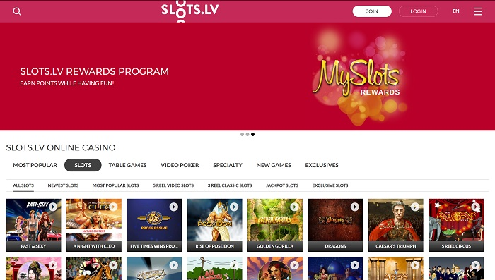 Slots.LV Casino Welcome AU & US Players!
